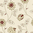 Gran Deco Jasmine Wallpaper - Red