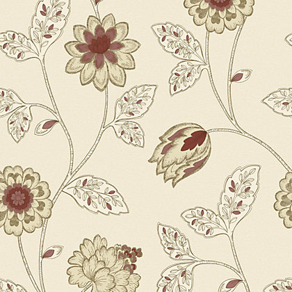 Image for Gran Deco Jasmine Wallpaper - Red from StoreName