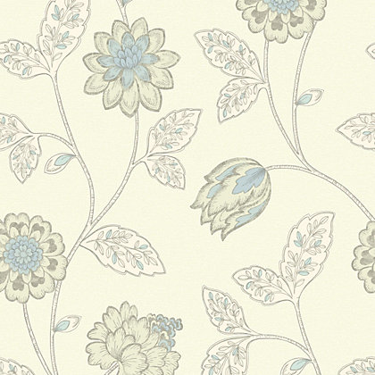 Image for Gran Deco Jasmine Wallpaper - Duck Egg from StoreName