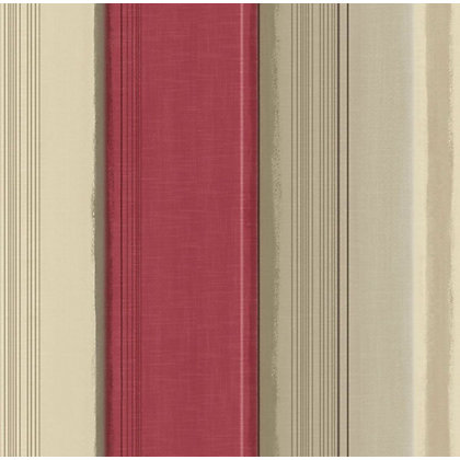 Image for Gran Deco Elise Stripe Red Wallpaper from StoreName