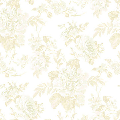 Image for Gran Deco Bouquet Wallpaper - Cream from StoreName