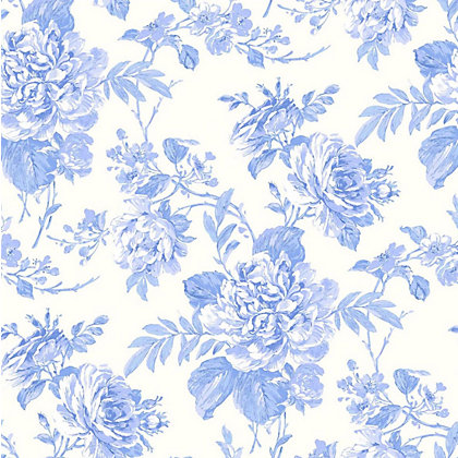 Image for Gran Deco Bouquet Wallpaper - Teal from StoreName