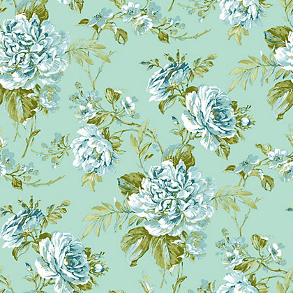 Image for Gran Deco Bouquet Wallpaper - Blue from StoreName