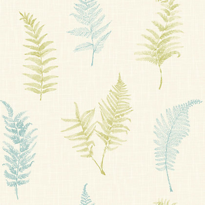 Image for Gran Deco Fern Wallpaper - Teal from StoreName