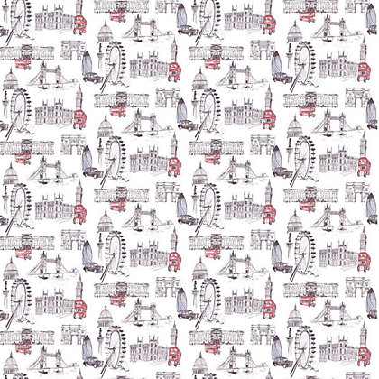 Image for Gran Deco Sight seeing Red Wallpaper from StoreName