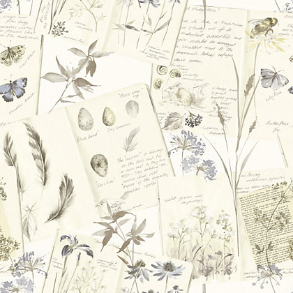 Image for Gran Deco Nature Diary Wallpaper - Cream from StoreName