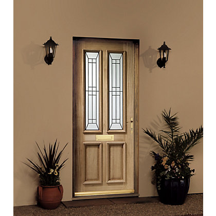 Image for Malton 4 Panel Triple Glazed Oak External Door - 762mm Wide from StoreName