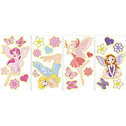 Image for Fine Decor Glow in the Dark Fairies WallPops Wall Stickers from StoreName