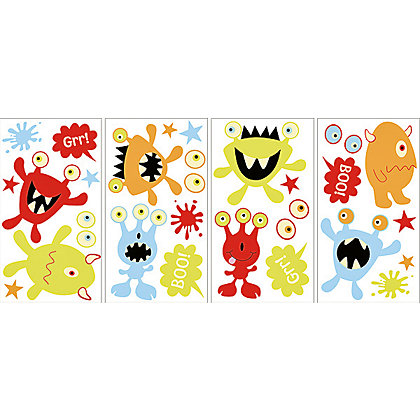 Image for Fine Decor Little Monsters Glow in the Dark WallPops Wall Stickers from StoreName