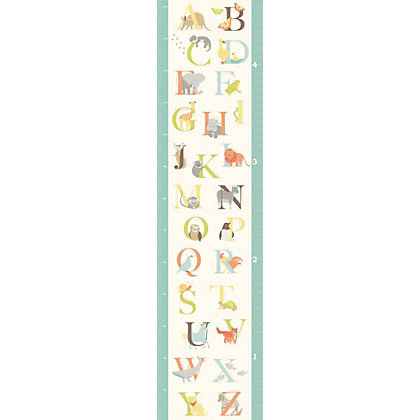 Image for Fine Decor Alphabet Zoo Growth Chart WallPops Wall Sticker from StoreName