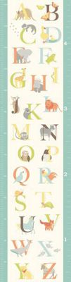 Image of Fine Decor Alphabet Zoo Growth Chart WallPops Wall Sticker