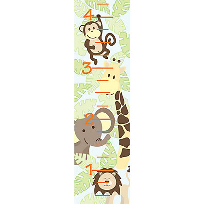Image for Fine Decor Jungle Friends Growth Chart WallPops Wall Sticker from StoreName