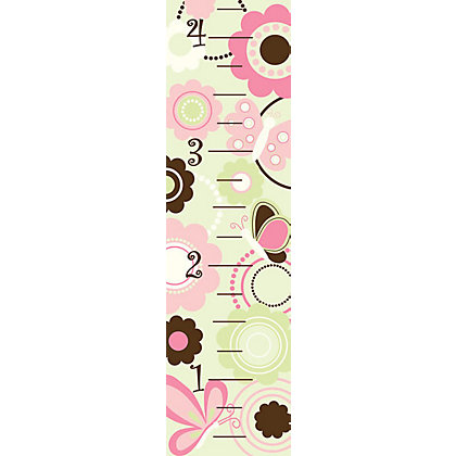 Image for Fine Decor Butterfly Garden Growth Chart WallPops Wall Sticker from StoreName