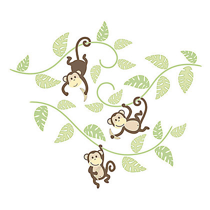Image for Fine Decor Monkeying Around WallPops Wall Stickers from StoreName