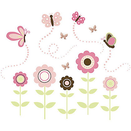 Image for Fine Decor Butterfly Garden Stickers from StoreName