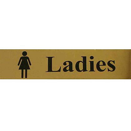 Image for Ladies Toilet Sign - Black/Gold from StoreName
