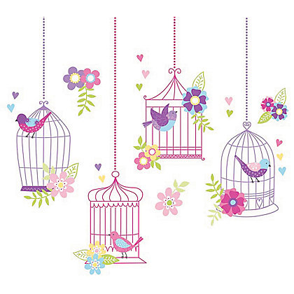 Image for Fine Decor Chirping the Day Away WallPops Wall Stickers from StoreName