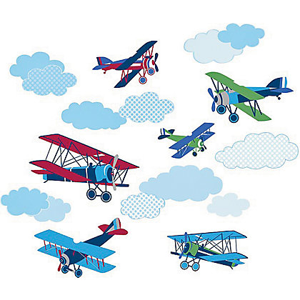 Image for Fine Decor Mighty Vintage Planes WallPops Wall Stickers from StoreName