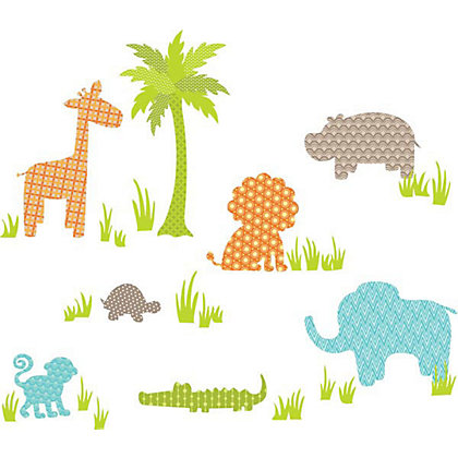 Image for Fine Decor Jungle Friends WallPops Wall Stickers from StoreName