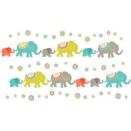 Image for Fine Decor Tag Along Elephants WallPops Wall Stickers from StoreName