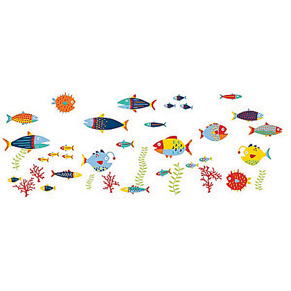 Image for Fine Decor Fish Tales Stickers from StoreName