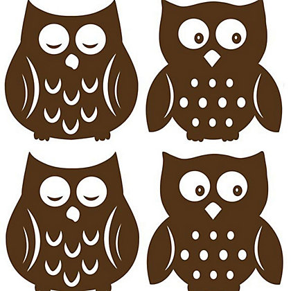 Image for Fine Decor Owl Espresso  WallPops Wall Stickers from StoreName