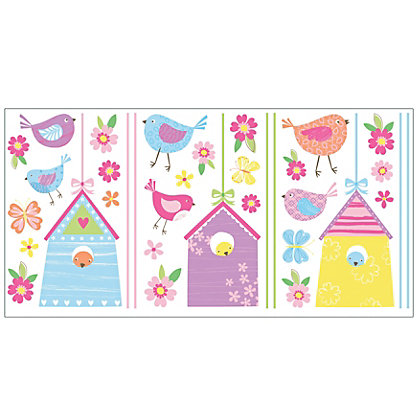 Image for Fine Decor Birds Houses Stickers from StoreName