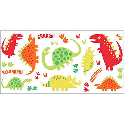 Image for Fine Decor Dino Red Stickers from StoreName