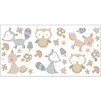 Fine Decor Forest Friends Stickers - Neutral