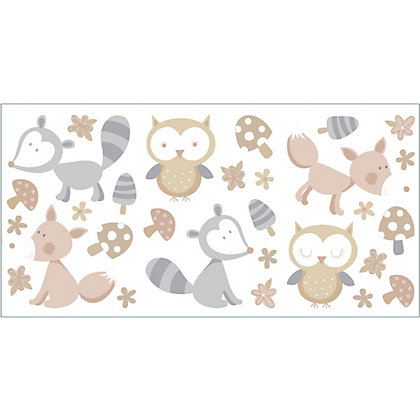 Image for Fine Decor Forest Friends Stickers - Neutral from StoreName