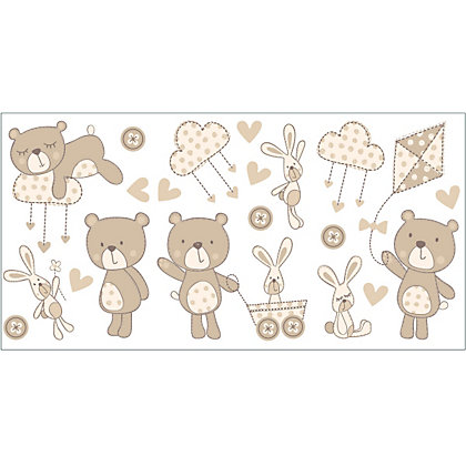 Image for Fine Decor Bear & Boo Stickers - Neutral from StoreName