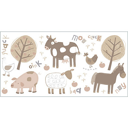 Image for Fine Decor Farm Stickers - Neutral from StoreName