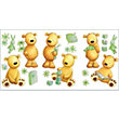 Fine Decor Teddy Bear Stickers - Green