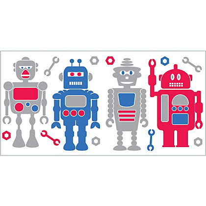 Image for Fine Decor Robots Stickers from StoreName
