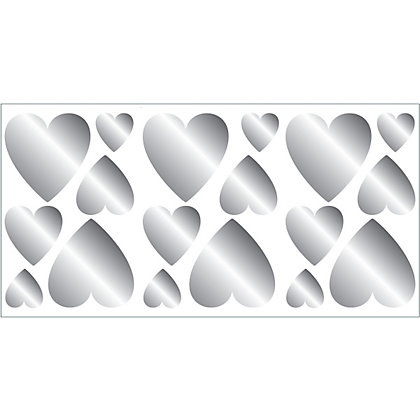 Image for Fine Decor Hearts Foil Stickers from StoreName
