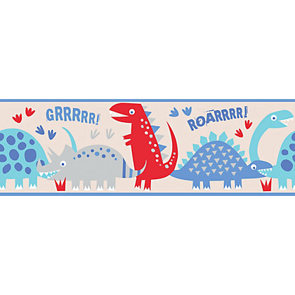 Image for Fine Decor Dino Blue Border from StoreName