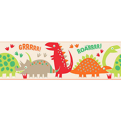 Image for Fine Decor Dino Multi Border from StoreName