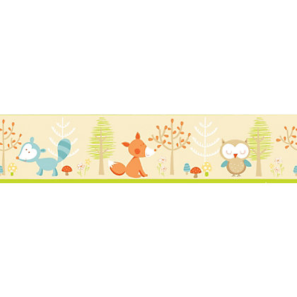 Image for Fine Decor Forest Friends Border - Multi from StoreName