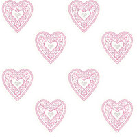 Fine Decor Lace Hearts Wallpaper