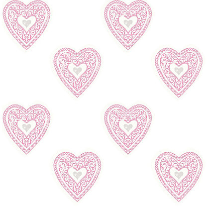 Image for Fine Decor Lace Hearts Wallpaper from StoreName