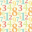 Fine Decor Numbers Wallpaper - Multi