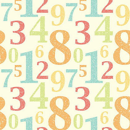 Image for Fine Decor Numbers Wallpaper - Multi from StoreName