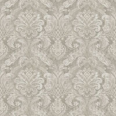 Taupe damask wallpaper - Butterfly wallpaper homebase ...