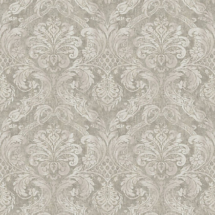 Image for Gran Deco Paradise Damask Wallpaper - Taupe from StoreName