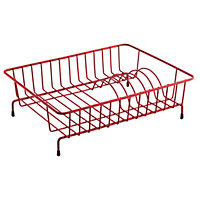 Habitat Nevin Wire Compact Dish Drainer - Red