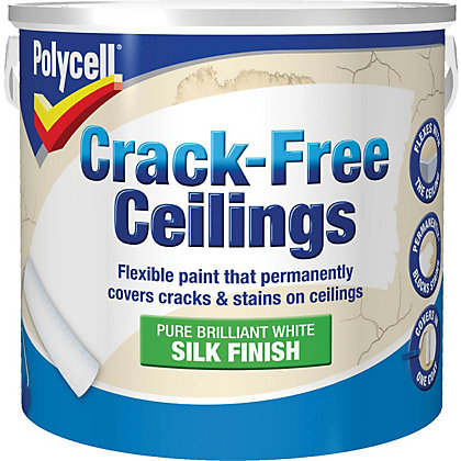 Image for Polycell Crack Free Ceilings Silk Pure Brilliant White - 2.5L from StoreName