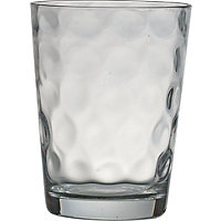 Embossed Bubble Water Tumbler Glass