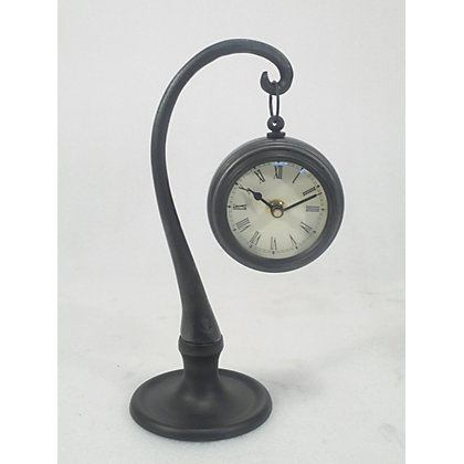 Metal Hanging Clock On Stand