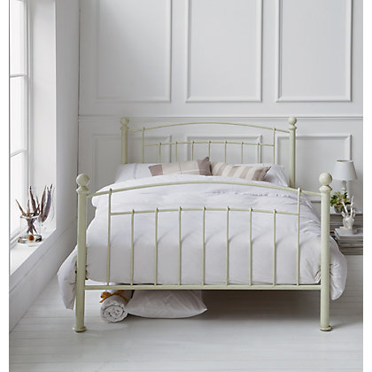 Silentnight Sydney Metal Double Bed Cream