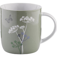 Hedgerow Porcelain Mug - Green